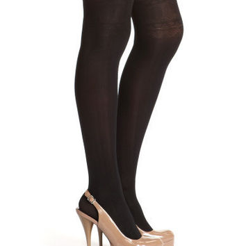 Charlotte Russe - Scalloped Garter Tight