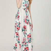 Casual Living In Lights Sleeve less Floral Maxi Dress