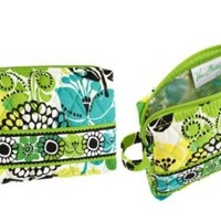 Vera Bradley Small Cosmetic in Lime's Up