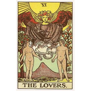 The Lovers Tarot Card Poster 11x17