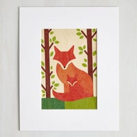 Critters Wild at Hearth Print in Foxes by ModCloth