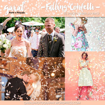 Confetti Photoshop Overlays, Photoshop overlay, confetti overlays, party overlays, weddings overlays, holidays, easter overlays, celebration