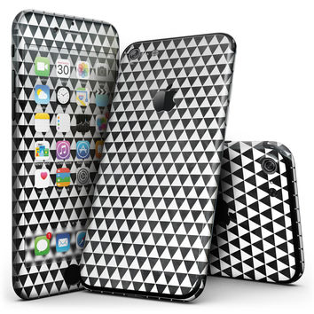 Black and White Watercolor Triangle Pattern - 4-Piece Skin Kit for the iPhone 7 or 7 Plus