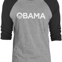 Big Texas Obama For President (White) 3/4-Sleeve Raglan Baseball T-Shirt