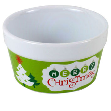 Celebrate It® Ceramic Ramekin, Merry Christmas