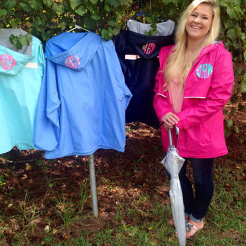 Lilly Pulitzer Monogrammed Charles River Rain Jacket