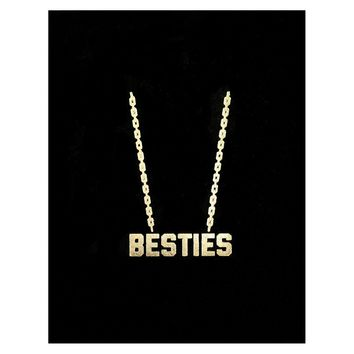 Besties Gold Chain Greeting Card