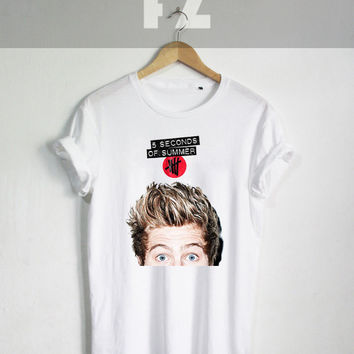 Luke Hemmings Shirt 5 SOS Tour Shirt T-shirt Tee Shirt White Color Unisex Size - NK99