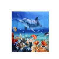 Cool Dolphin 180*180CM 3D Shower Curtain