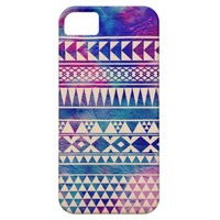 Pink Purple Teal Blue Cute Trendy Girly Andes Aztec Pattern iPhone 5 Cases