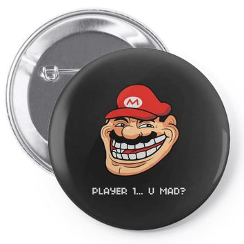 player 1 (2) Pin-back button