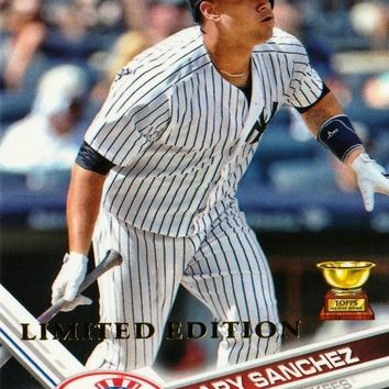 """LIMITED EDITION"" GARY SANCHEZ ROOKIE CARD 2017 TOPPS #7 YANKEES JUST 1000 MADE"