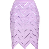 Prisma Lavender Pencil Skirt