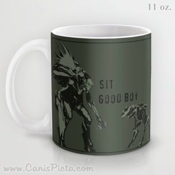 Halo Mug Spartan Master Chief Elite 11/15 oz Dishwasher Microwave Safe Cup Tea Coffee Drink For Him Olive Drab OD Green Video Game Dude Guy