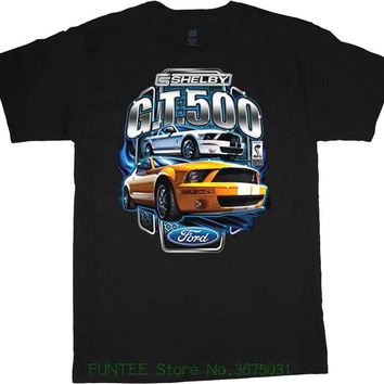 New 2018 Fashion Hot Shelby Gt 500 T-shirt Design Muscle Car Tshirt Men's Tee Shirt Ford Shelby