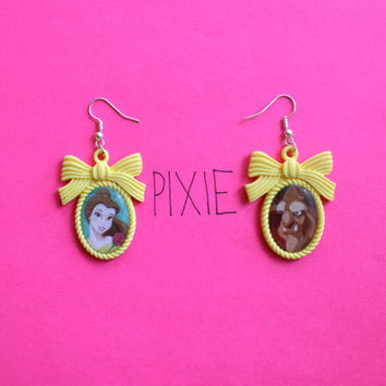 Beauty and the Beast cameo earrings Disney