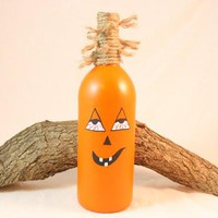 Halloween Decoration, Drunk Pumpkin, Wine Bottle Pumpkin, Fall Decorations, Halloween Pumpkin