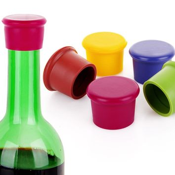 4PCS Silicone Wine Beer Cover Bottle Cap Stopper Beverage Home Kitchen Bar Tools