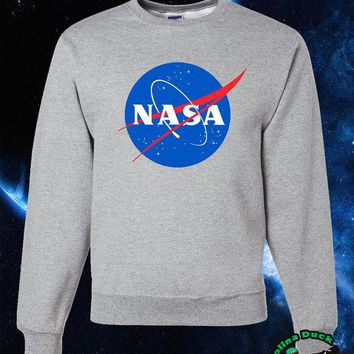 NASA Sweater, NASA Logo High Quality Soft Unisex Crew Neck Sweatshirt, Sweater, Pullover Shirt Gift Present