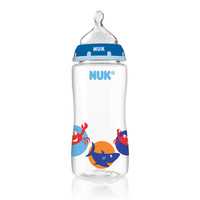 NUK Sea Creature Orthodontic 10 Ounce Bottle with Medium Flow Silicone Nipple - Boy