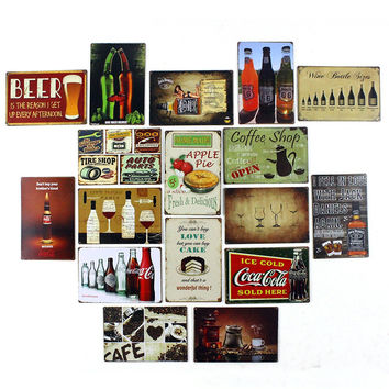 Beer is the reason I get up every Afternoon Ice Cold Coca Cola Jack Daniels Retro Tin Signs Vintage Metal Pop Art Posters 20x30cm