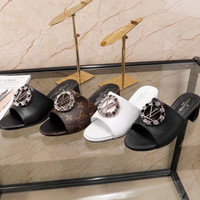 shosouvenir LV 【Louis vuitton】Big round drill slippers