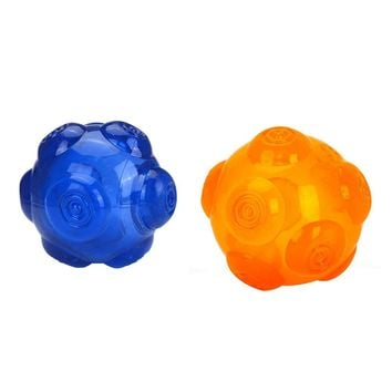2Pcs Dog Silicone Molar Balls Squeaky Dog Bite Toy for Large Small Dogs Pets Training Toys