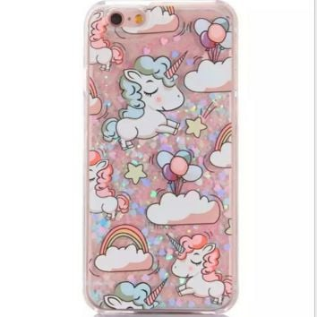 476d0fcd86 Cute Unicorn Phone Case Cover for Apple iPhone 7 7 Plus 5S 5 SE 6 6S 6 Plus  6S Plus +