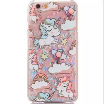 Cute Unicorn Phone Case Cover for Apple iPhone 7 7 Plus 5S 5 SE 6 6S 02b1a7291