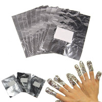 50Pcs Women Special Nail Tinfoil Wrap For Nail Art Soak Off Acrylic Gel Polish Nail Wraps Remover