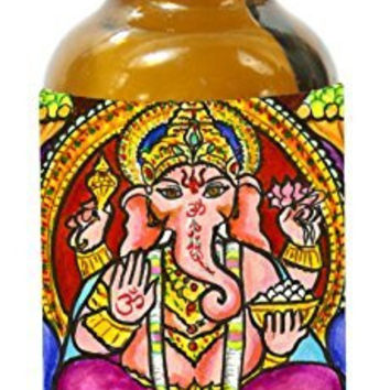Lord Ganesh God of Intellect Wisdom 1 Ounce Glass Altar Oil