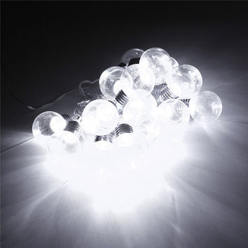 EU Plug 10M Globe 20 LED String Light Led Clear Bulb Multicolor Fairy Lamp DC31V