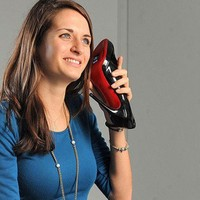 "U.K. Artist Upcycles Vintage Shoes, Obsolete Cellphones Into Literal ""Walkie Talkies"" 