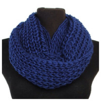 Love the Classic Crochet Big Thick Navy Infinity Scarf