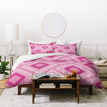 Lara Kulpa Pink Diamonds Duvet Cover