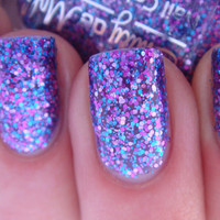 Nail polish  Warrior Princess pink blue and purple by EmilydeMolly