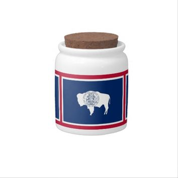 Wyoming State Flag Candy Jar