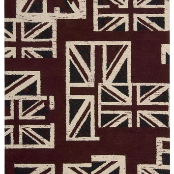 Barclay Butera Intermix Union Jack Area Rug By Nourison INT05 UJACK (Rectangle)