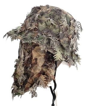 Mossy Oak Obsession Camouflage 3D Leafy Bucket Hat with Hunting Face Mask Combination (58 cm)