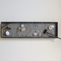 Zen Garden Decor Natural Wall Art - Zen Art Wall Hanging - Nature Inspired Artwork - Office Wall Art Office Decor - Mixed Media Original Art