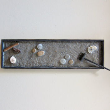 Zen Garden Decor Natural Wall Art   Zen Art Wall Hanging   Nature Inspired  Artwork