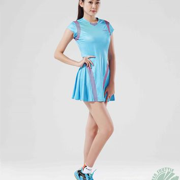 Women Kawasaki Sport Dress Professionals Badminton Dresses Genuine Kawasaki SK16279 Blue Red Badminton Skirt With Safety Pants