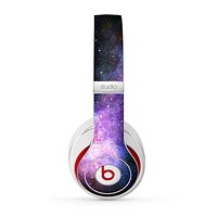 The Vibrant Purple and Blue Nebula Skin for the Beats by Dre Studio (2013+ Version) Headphones