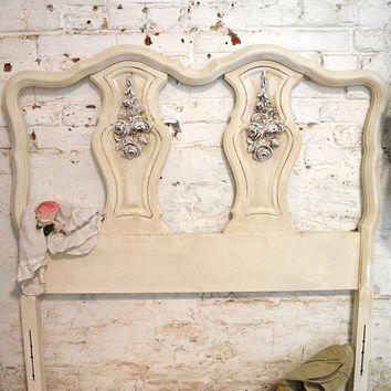 Painted Cottage Chic Shabby French Romantic Headboard BD709