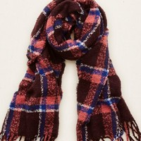 Aerie Bonfire Blanket Scarf , Deep Plum | Aerie for American Eagle