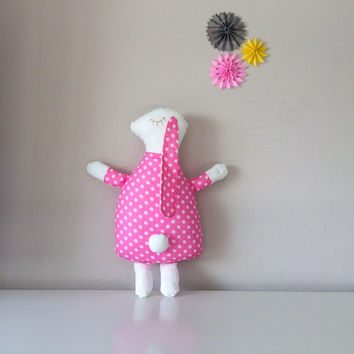 Handmade bunny, toy bunny, soft bunny, animal pillow, softies, stuffed bunny, plush bunny toy, stuffed toy, bunny doll