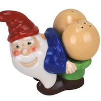 GNOME SALT & PEPPER SHAKERS