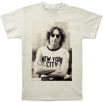 John Lennon Men's  NYC T-Shirt Slim Fit T-shirt Vintage