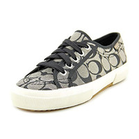 Coach Women's Kalyn Fashion Sneaker (Black-White)