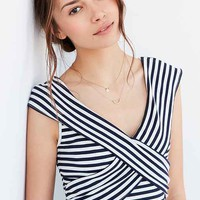 Kimchi Blue Olivia Striped Cross-Over Top